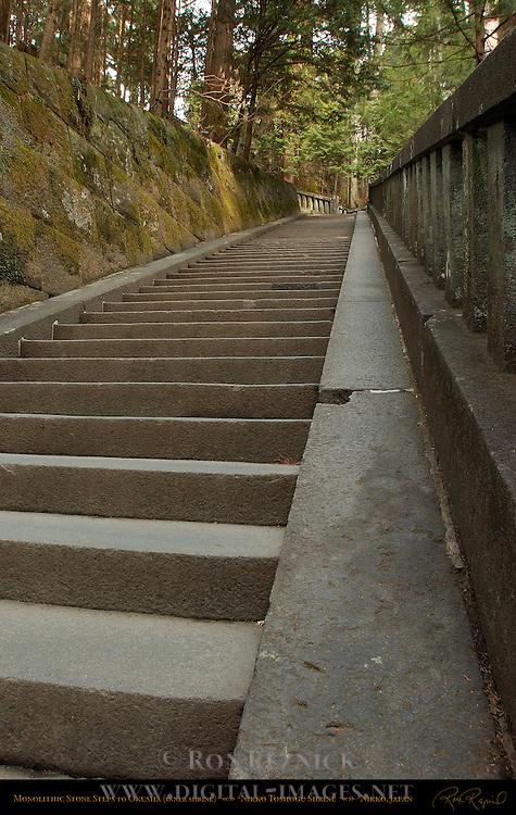 Monolithic Stone Steps to Okusha Inner Shrine Nikko Toshogu Shrine Nikko Japan