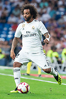 Real Madrid Marcelo during La Liga match between Real Madrid and Getafe CF at Santiago Bernabeu in Madrid, Spain. August 19, 2018.  *** Local Caption *** © pixathlon