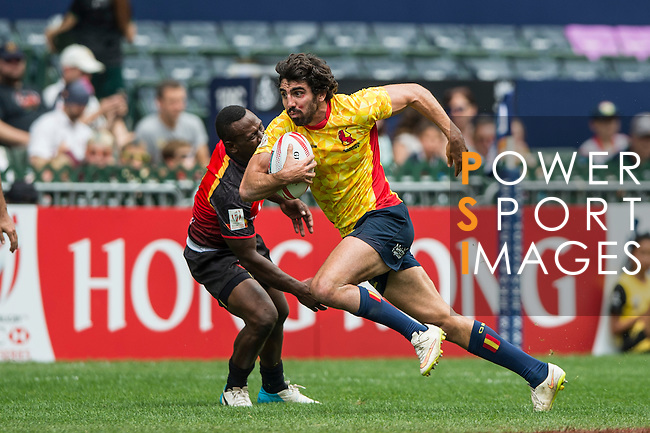 Spain v Papua New Guinea during the HK Rugby Sevens 2016 on 08 April 2016 at Hong Kong Football Club in Hong Kong, China. Photo by Li Man Yuen / Power Sport Images