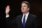 Supreme Court nominee Judge Brett Kavanaugh arrives to testify before the US Senate Judiciary Committee on Capitol Hill in Washington, DC, September 27, 2018. <br /> Kavanaugh was to testify in front of the panel next on Thursday afternoon, having stridently rejected the allegations of sexual abuse by Blasey Ford and two other women in prepared remarks. / POOL / SAUL LOEB