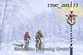 Marcello, CHRISTMAS CHILDREN, WEIHNACHTEN KINDER, NAVIDAD NIÑOS, paintings+++++,ITMCXM1173,#xk# ,playing in snow