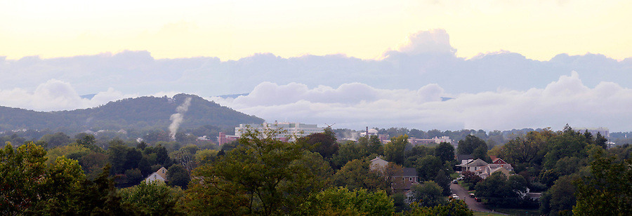Charlottesville cityscape in Albemarle County, VA. Photo/Andrew Shurtleff