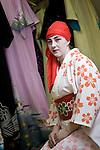 Geisha Fukutaro from Romania poses for a photo in Izu-Nagaoka, Shizuoka Prefecture, Japan..Photographer: Robert Gilhooly