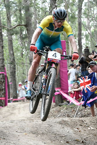 12th April 2018, Nerang Mountain Bike Trails, Gold Coast, Australia; Commonwealth Games day 8; Men's Cross Country; Daniel McConnell of Australia