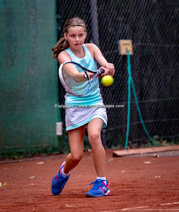 Hilversum, Netherlands, August 8, 2018, National Junior Championships, NJK, Fleur Sprengers (NED)<br /> Photo: Tennisimages/Henk Koster