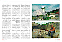Swiss magazine FACTS on the Rosia Montana gold project, Romania,<br /> July 8, 2004. Photographer: Martin Fejer