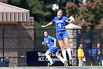 27 October 2013: Duke's Kara Wilson (15). The Duke University Blue Devils hosted the Pittsburgh University Panthers at Koskinen Stadium in Durham, NC in a 2013 NCAA Division I Women's Soccer match. Duke won the game 6-3.