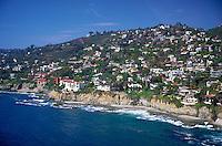 Laguna Beach, CA, Aerial View, Coast, Waterfront, Luxury Home's Cliffs,