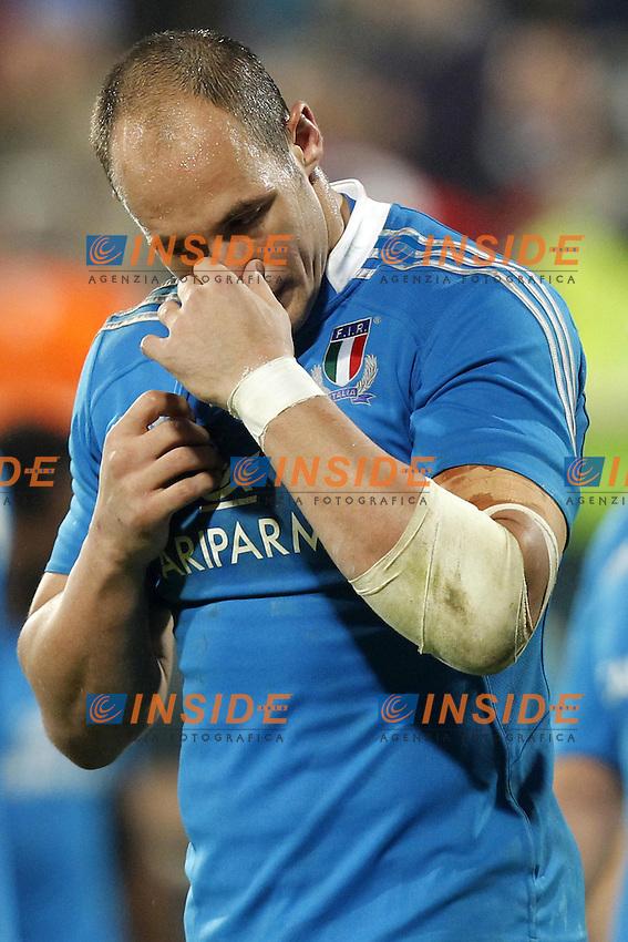 Firenze 24/11/2012 .Rugby test match Stadio Franchi Italia vs Australia .Nella foto la delusione di Sergio Parisse.Photo Matteo Ciambelli / Insidefoto