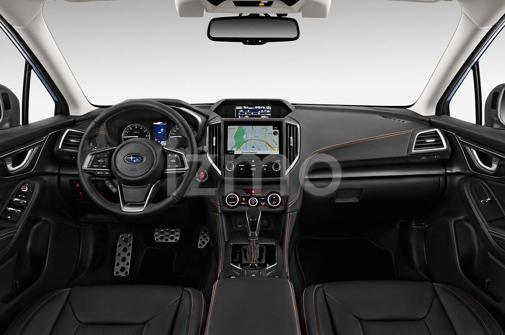 Stock photo of straight dashboard view of a 2018 Subaru XV Premium 5 Door SUV