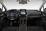 Stock photo of straight dashboard view of a 2018 Subaru XV Premium 5 Door SUV