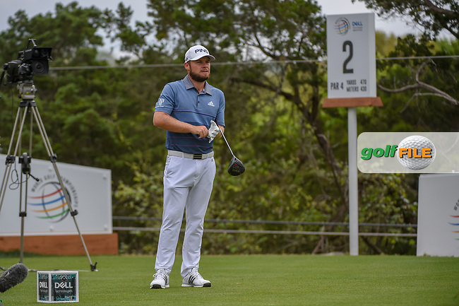 Tyrrell Hatton (ENG) looks over his tee shot on 2 during day 3 of the WGC Dell Match Play, at the Austin Country Club, Austin, Texas, USA. 3/29/2019.<br /> Picture: Golffile | Ken Murray<br /> <br /> <br /> All photo usage must carry mandatory copyright credit (© Golffile | Ken Murray)