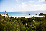 BERMUDA. Rocks and Beach at Horseshoe Bay.