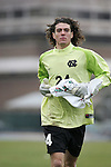 UNC goalkeeper Justin Hughes on Sunday, November 27th, 2005 at Fetzer Field in Chapel Hill, North Carolina. The University of North Carolina Tarheels defeated the University of Virginia Cavaliers 2-1 in a NCAA Men's Soccer Tournament Round of 16 game.