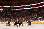 - The Harvard University Crimson defeated the Northeastern University Huskies 4-3 in the opening game of the 2017 Beanpot on Monday, February 6, 2017, at TD Garden in Boston, Massachusetts.