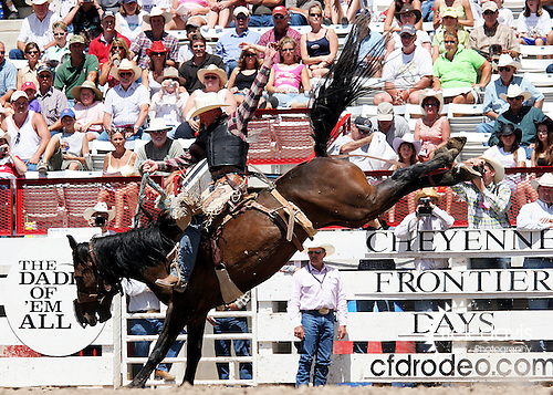 Saddle Bronc riding at Cheyenne Frontier Days