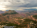Monsoon clouds swirl around Steamboat Rock.<br />