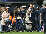 Tottenham's Harry Kane with his daughter Ivy during the Premier League match at White Hart Lane Stadium, London. Picture date: May 14th, 2017. Pic credit should read: David Klein/Sportimage