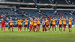 Motherwell celebrate at full time