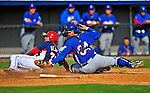3 March 2009: Washington Nationals' shortstop Ian Desmond is tagged out at the plate by Francisco Cervelli of Italy during a Spring Training exhibition game at Space Coast Stadium in Viera, Florida. The Nationals defeated Italy 9-6. Mandatory Photo Credit: Ed Wolfstein Photo