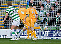 MOTHERWELL'S MICHAEL HIGDON SCORES MOTHERWELL'S GOAL