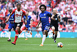 Willian of Chelsea is challenged by Maria Lemina of Southampton during the FA cup semi-final match at Wembley Stadium, London. Picture date 22nd April, 2018. Picture credit should read: Robin Parker/Sportimage