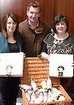 Organisers, Yvonne McCauley and Orla Butler with Kieran Cassidy of Kilbeg Dairies at the Coffee Morning Fundraiser in aid of Trocaire organised by Inse Bay Residents...Photo NEWSFILE/Jenny Matthews.(Photo credit should read Jenny Matthews/NEWSFILE)....This Picture has been sent you under the condtions enclosed by:.Newsfile Ltd..The Studio,.Millmount Abbey,.Drogheda,.Co Meath..Ireland..Tel: +353(0)41-9871240.Fax: +353(0)41-9871260.GSM: +353(0)86-2500958.email: pictures@newsfile.ie.www.newsfile.ie.FTP: 193.120.102.198.