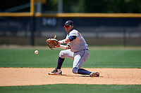 Detroit Tigers Keyder Aristigueta (9) during a Minor League Spring Training game against the New York Yankees on March 21, 2018 at the New York Yankees Minor League Complex in Tampa, Florida.  (Mike Janes/Four Seam Images)