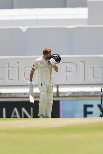 15th December 2017, The WACA, Perth, Australia; The Ashes Series, third test, day 2, Australia versus England; England player Jonny Bairstow celebrates scoring 100