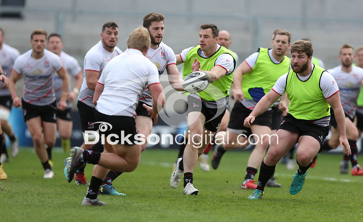 Friday 20 April 2018 | Ulster Rugby Captain's Run<br /> <br /> Stuart McCloskey during Captain's Run at Kingspan Stadium, Ravenhill Park Belfast, Northern Ireland. Photo by John Dickson / DICKSONDIGITAL