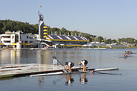 Poznan, POLAND, GV Rowing course and grandstand, FISA World Rowing Championships. held on the Malta Rowing lake, Thursday  20/08/2009 [Mandatory Credit. Peter Spurrier/Intersport Images]