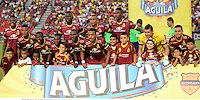 IBAGUE -COLOMBIA, 7-08-2016. Formación del Deportes Tolima contra Millonarios. Acción de juego entre Millonarios vs Tolima   durante encuentro  por la fecha 7 de la Liga Aguila II 2016 disputado en el estadio Manuel  Murillo Toro./ Team of Tolima against Millonarios. Action game between  Millonarios  and Tolima  during match for the date 7 of the Aguila League II 2016 played at Mnauel  Murillo Toro stadium. Photo:VizzorImage / Juan Carlos Escobar Tagueno / Contribuidor