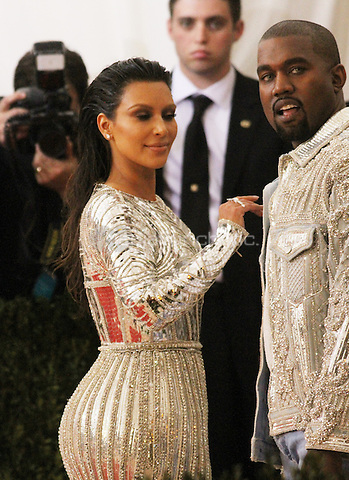 05 02 2016:  Kanye Wes, Kim Kardashian at Manus X Machina: Fashion In An Age of Technology at Metropolitan Museum of Art in New York. Credit:RWMediaPunch
