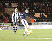 Luke Leahy clearing in the St Mirren v Falkirk Scottish Professional Football League Ladbrokes Championship match played at the Paisley 2021 Stadium, Paisley on 1.3.16.