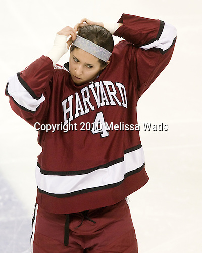 Hilary Hayssen (Harvard - 4) - The Boston College Eagles defeated the visiting Harvard University Crimson 6-2 on Sunday, December 5, 2010, at Conte Forum in Chestnut Hill, Massachusetts.