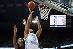 14 November 2014: North Carolina's Kennedy Meeks (3). The University of North Carolina Tar Heels played the North Carolina Central University Eagles in an NCAA Division I Men's basketball game at the Dean E. Smith Center in Chapel Hill, North Carolina. UNC won the game 76-60.