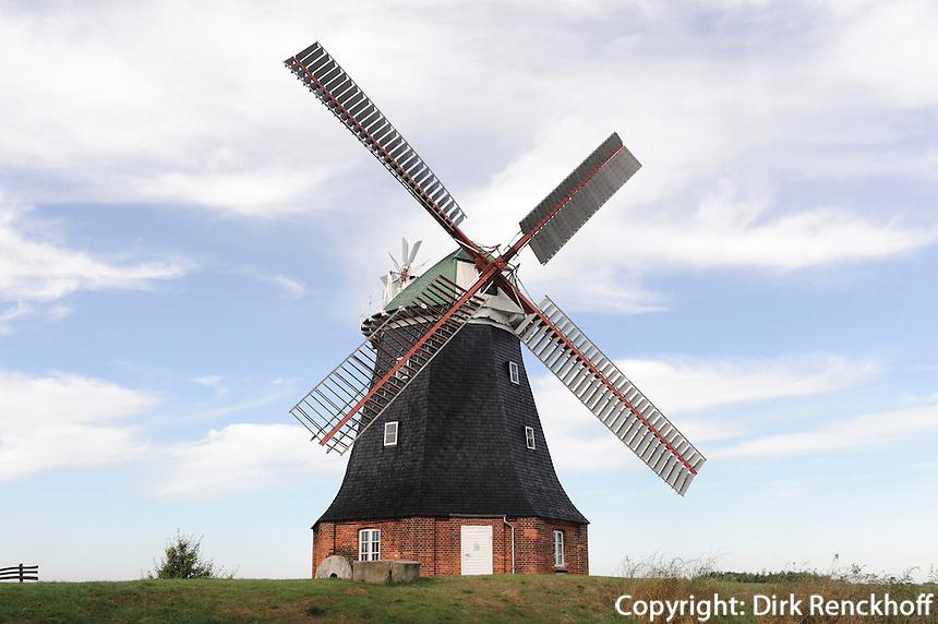 Windmühle von 1889 in Stove, Mecklenburg-Vorpommern, Deutschland