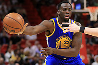 MIAMI, FL - JANUARY 23: Draymond Green #23 of the Golden State Warriors passes during a game against the Miami Heat at American Airlines Arena on January 23, 2017 in Miami, Florida. NOTE TO USER: User expressly acknowledges and agrees that, by downloading and or using this photograph, User is consenting to the terms and conditions of the Getty Images License Agreement.  (Photo by Mike Ehrmann/Getty Images)
