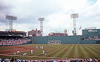 Ballparks: Boston Fenway Park. Panorama--before the game.