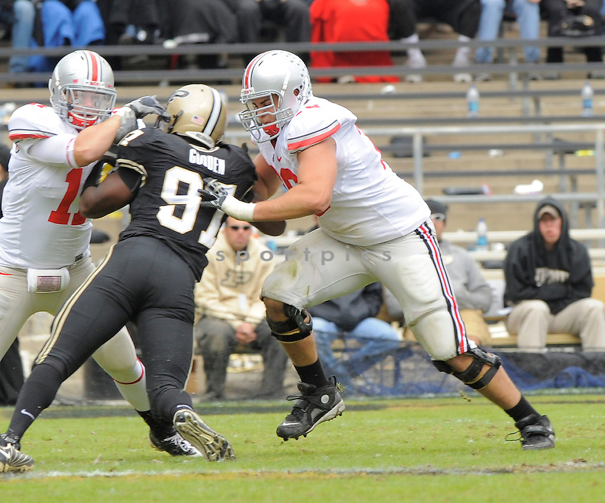 MIKE BREWSTER, of the Ohio State Buckeyes, in action during the Buckeyes game against the Purdue Boilermakers  in St. Louis, MO, on October 17, 2009.  Purdue wins 26-18..