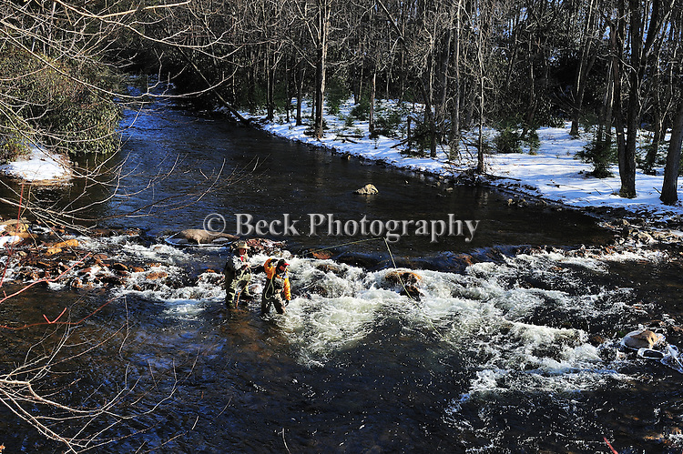 winter trout fishing Mud Run Pa.