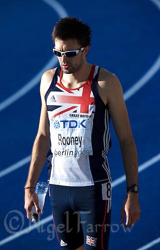 19 AUG 2009 - BERLIN, GER - Martyn Rooney (GBR) - Mens 400m Semi Final - World Athletics Championships .(PHOTO (C) NIGEL FARROW)