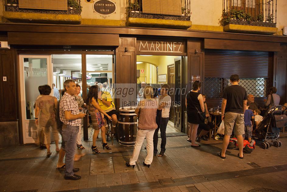 Europe/Espagne/Pays Basque/Guipuscoa/Goierri/Ordizia: bar à Tapas: Martinez [Non destiné à un usage publicitaire - Not intended for an advertising use]