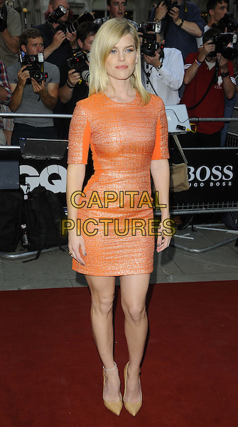 Alice Eve<br /> GQ Men of the Year Awards 2013 at the Royal Opera House, London, England.<br /> September 3rd, 2013<br /> full length orange dress <br /> CAP/CAN<br /> &copy;Can Nguyen/Capital Pictures