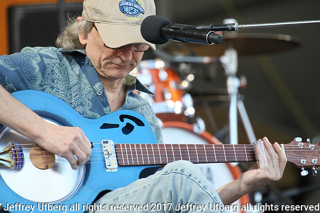 May 4, 2017 New Orleans, La: Singer/Musician Sonny Landreth performs at the New Orleans Jazz & Heritage Festival on May 4, 2017 in New Orleans, La. May 5, 2017 New Orleans, La. Singer/Musician Sonny Landreth performs at the New Orleans Jazz & Heritage Festival on May 5, 2017 in New Orleans, La.