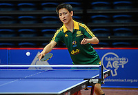 Yasir Hussaini (AUS)<br /> 2013 ITTF PTT Oceania Regional<br /> Para Table Tennis Championships<br /> AIS Arena Canberra ACT AUS<br /> Wednesday November 13th 2013<br /> © Sport the library / Jeff Crow