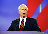 United States Senator John S. McCain, III (Republican of Arizona) speaks at the 1996 Republican National Convention at the San Diego Convention Center in San Diego, California on August 12, 1996.  <br /> Credit: Ron Sachs / CNP