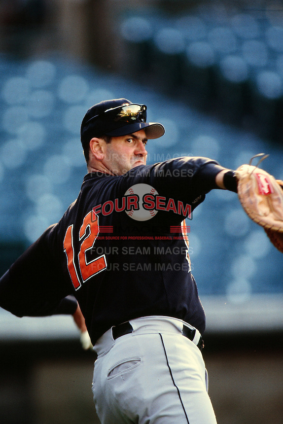 Will Clark of the Baltimore Orioles during a game against the Anaheim Angels at Angel Stadium circa 1999 in Anaheim, California. (Larry Goren/Four Seam Images)