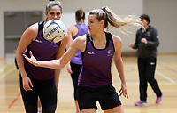 29.08.2017 Silver Ferns Jane Watson in action during the Silver Ferns training in Auckland. Mandatory Photo Credit ©Michael Bradley.