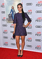 "LOS ANGELES, CA. November 08, 2018: Corinne Foxx at the AFI Fest 2018 world premiere of ""On the Basis of Sex"" at the TCL Chinese Theatre.<br /> Picture: Paul Smith/Featureflash"
